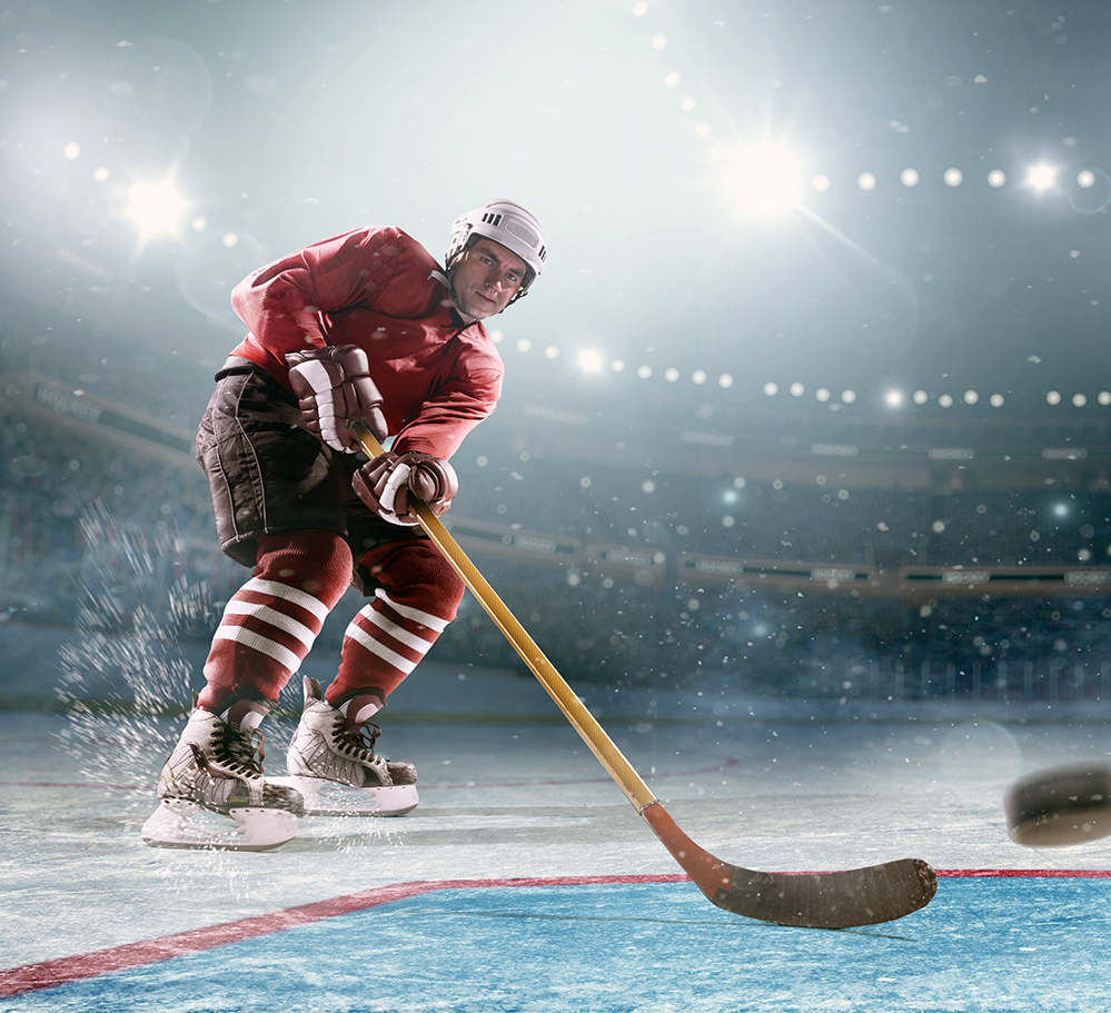 Laser therapy treatment for ice hockey